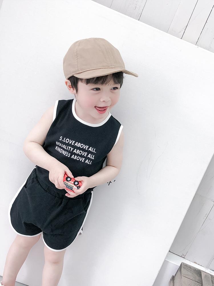 Kids Clothing Boys Set Male Soft Cotton Summer Spring Korean Short Sleeved Shirt