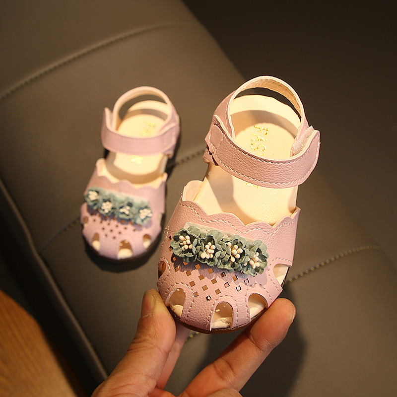 Kids Girls Shoes Summer Slip Soft Bottom Princess Toddler Casual Florals Sandals