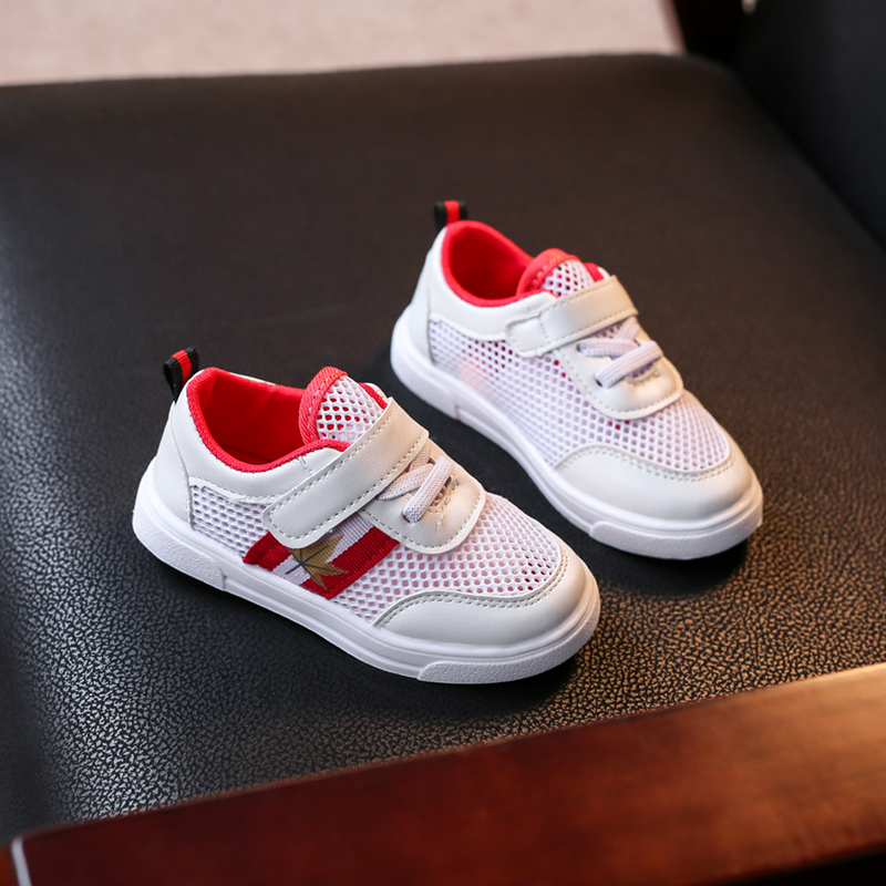 Kids Boys Shoes Children White Comfortable Soft Sneakers Net Toddler Breathable