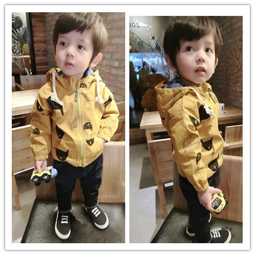 Kids Clothing Boys Tops Wind Breaker Jacket Cardigan Cotton Children\'s Clothes