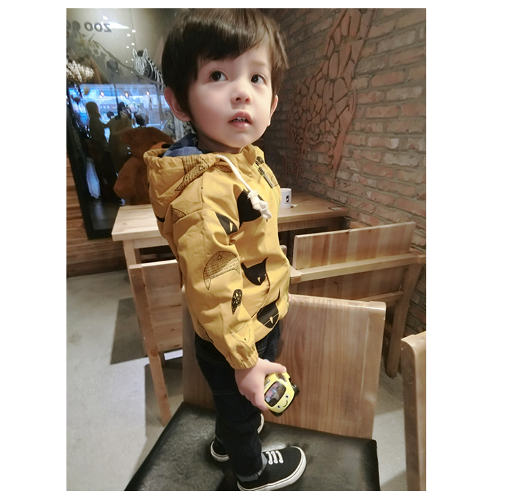 Kids Clothing Boys Tops Wind Breaker Jacket Cardigan Cotton Children's Clothes