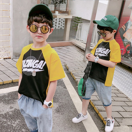 Kids Clothing Boys Tops Short Sleeve Cotton T- Shirts Children\'s Attire Outfits
