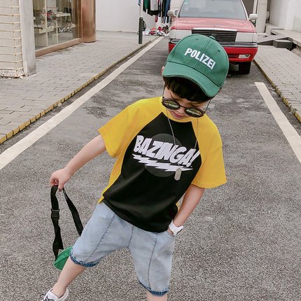 Kids Clothing Boys Tops Short Sleeve Cotton T- Shirts Children's Attire Outfits