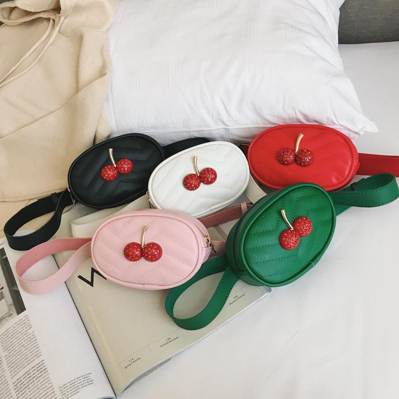 Kids Bags Girls Cherry Messenger Handbag Korean Style Children\'s Shoulder Sling