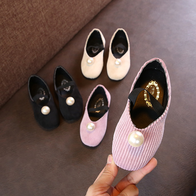 Kids Shoes Girls Leather Princess Soft Bottom Sole Doll Shoes Casual Style Wear