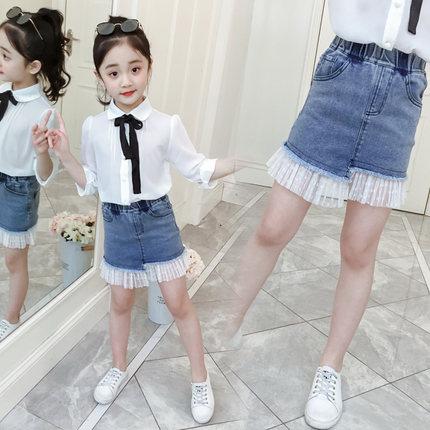 a29378f6c87 Kids Clothing Bottoms Girls Children s Summer Korean Denim Skirt With  Ruffles