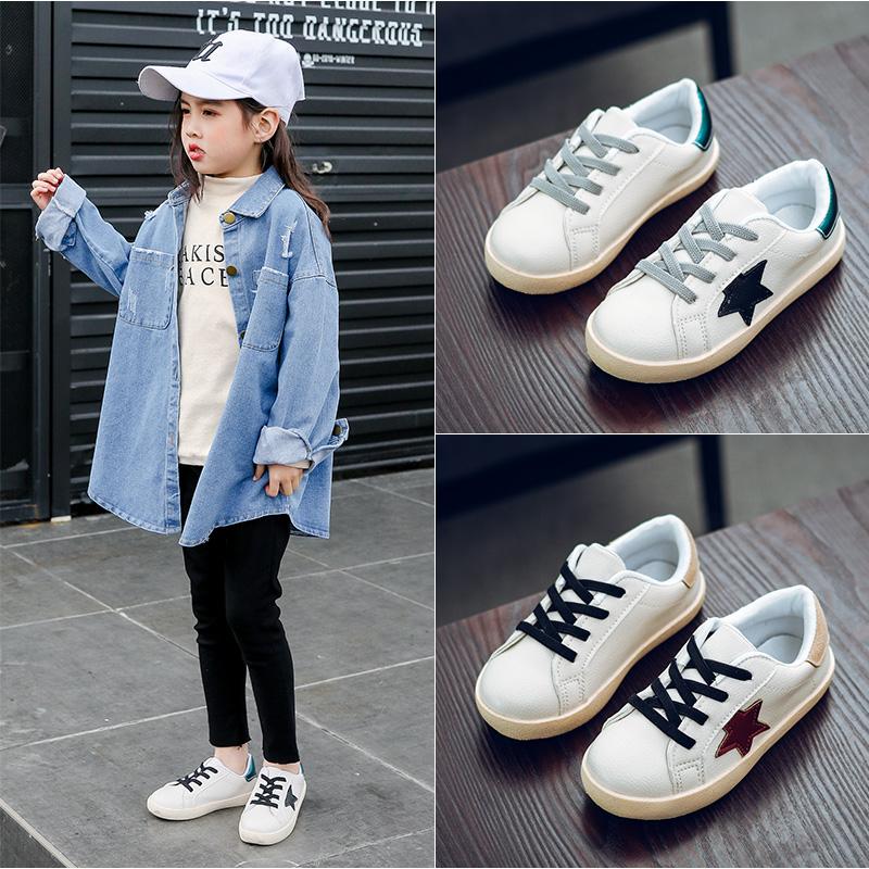 Kids Shoes Boys Male White Cute New Casual Sporty Footwear Sneakers Outwear