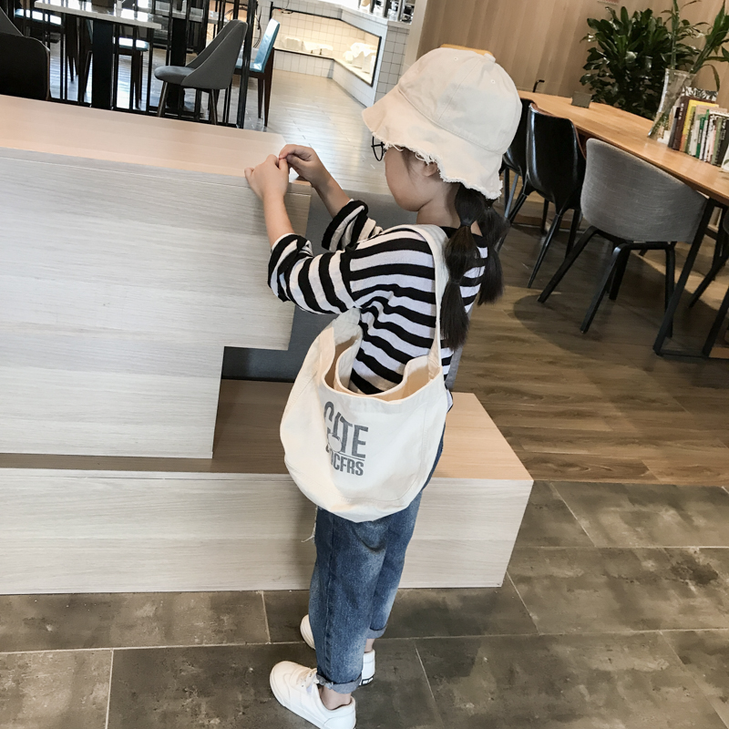 Kids Bags Girls Children Canvas Tote Bag Shoulder Casual Messenger Cute Sling