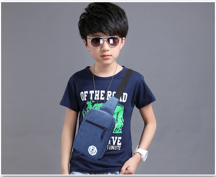 Kids Bags Boys Shoulder Canvas Sling Chest Style Messenger Shoulder Cute Canvas