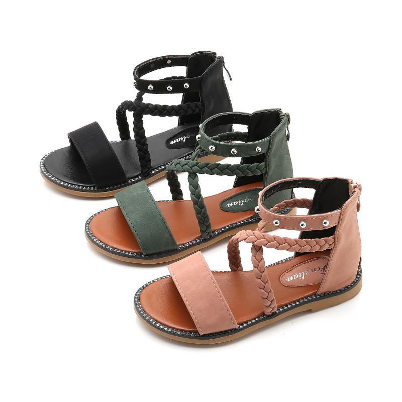 Kids Shoes Girls Flats Little Children\'s Summer Open Toe Casual Sandals Footwear