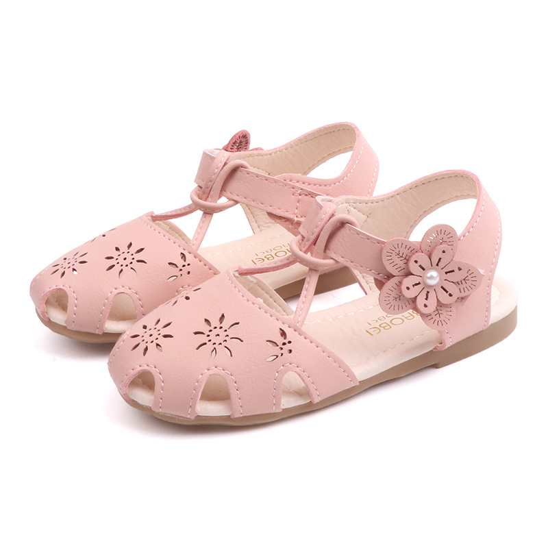 Kids Shoes Girls Little Children\'s Casual Flats Sandals Soft Bottom Princess New