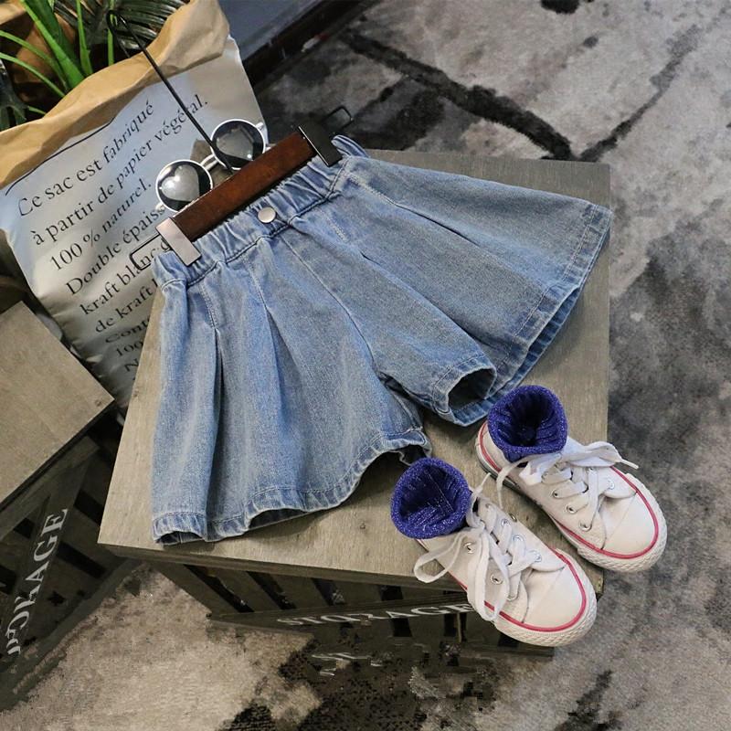 Kids Clothing Girls Bottoms Denim Mini Skirts Female Summer Children's Outfits