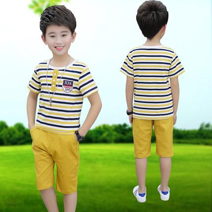 Kids Clothing Boys Set Short Sleeve Round Neck Cotton T - Shirts Summer Outfits