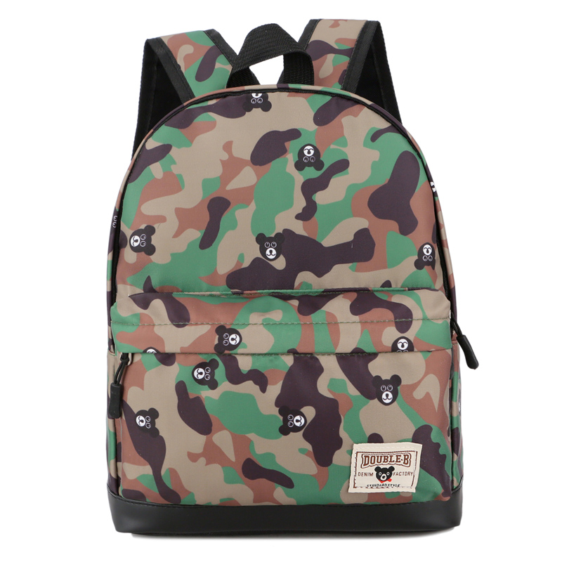 Kids Bags Boys Children\'s School Bag Canvas Backpack Little Army Style New
