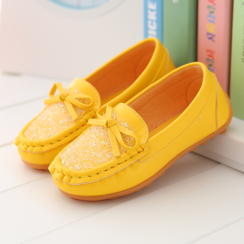 Kids Shoes Girls Children's Loafers Soft Bottom Doll Shoes Casual Footwear
