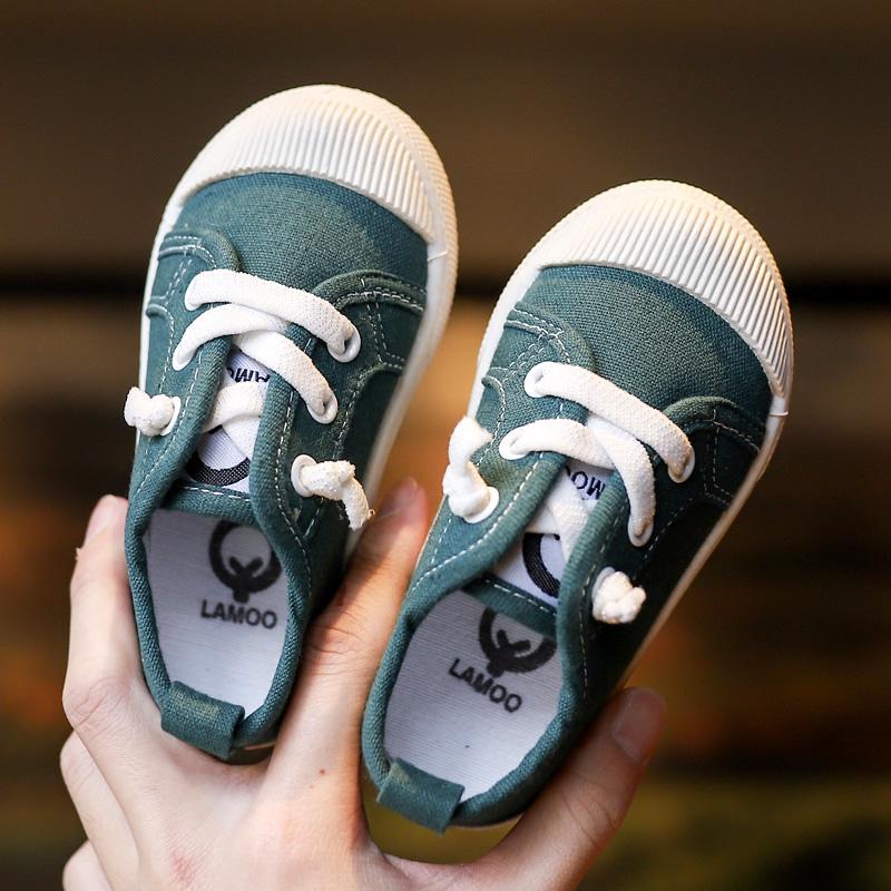 Kids Shoes Boys Male Flats Rubber Soft Sole Sneakers Children's Outwear