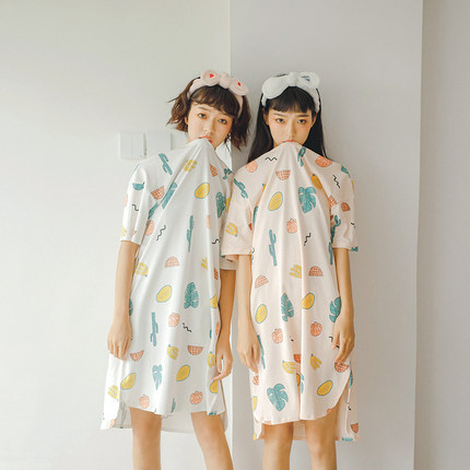 Maternity Clothing Sleepwear Loose Cotton Comfortable Pregnancy Night Wear
