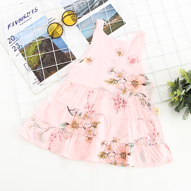 Kids Clothing Girls Set Dress Floral Cotton Cute Style Female Summer New Attire