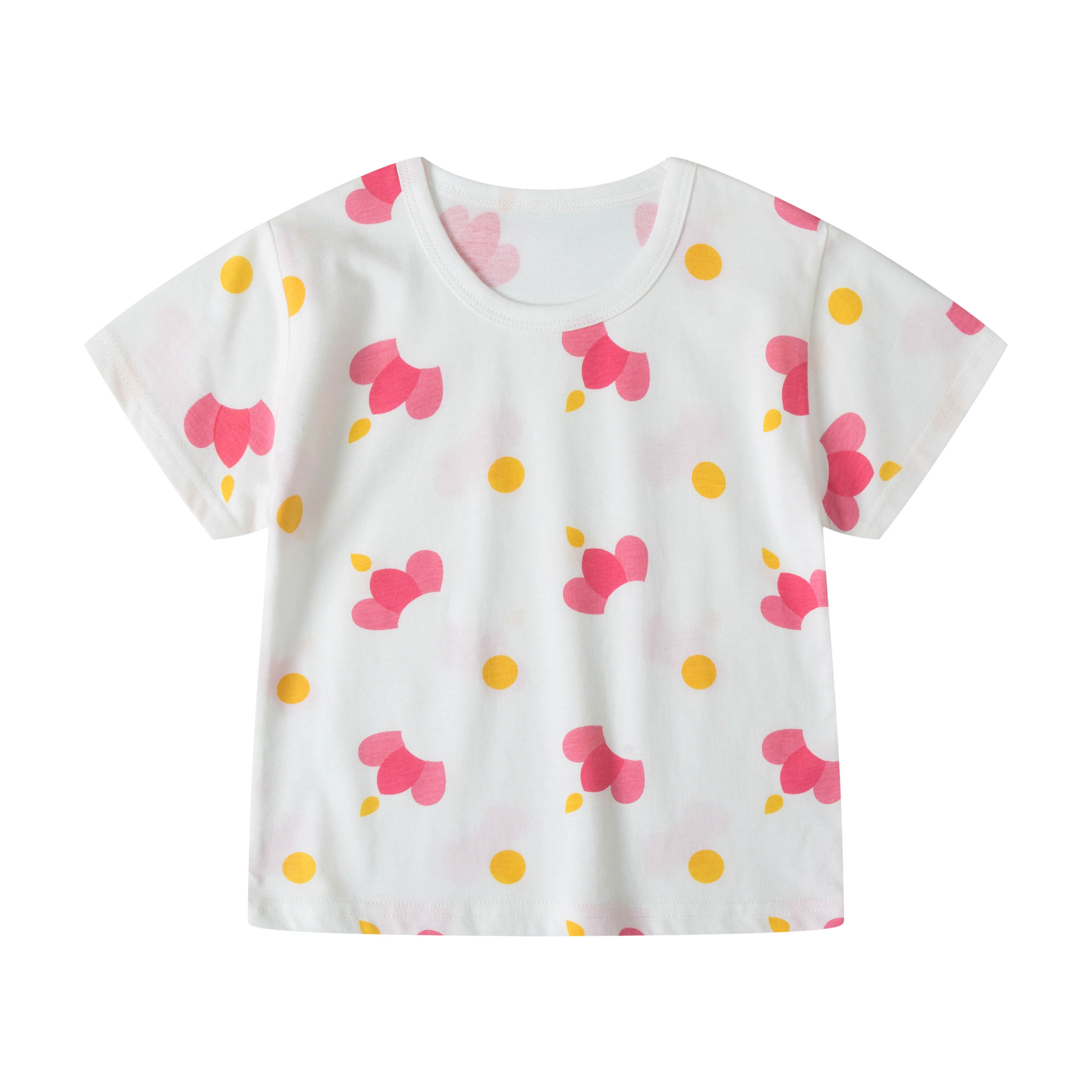 Kids Clothing Girls Tops Summer Cute Printed Cotton T- Shirts Children's Outfits
