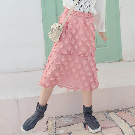Kids Clothing Girls Bottoms Lace Floral Long Skirts Children's Summer Outfits