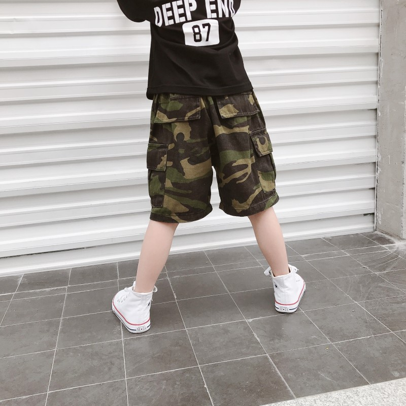 Kids Clothing Boys Bottoms Shorts Children\'s Clothing Camouflage Clothes Pants