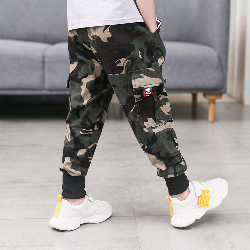Kids Clothing Boys Bottoms Camouflage Pants Cotton Children\'s Male Outwear