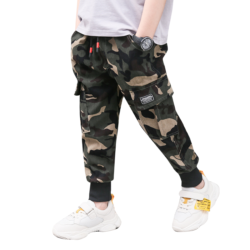 Kids Clothing Boys Bottoms Camouflage Pants Cotton Children's Male Outwear
