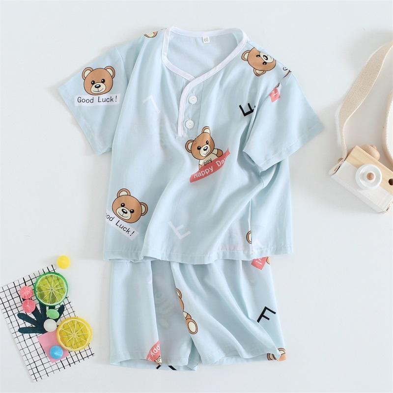 Kids Clothing Boys Sleepwear Soft Cotton Children\'s Night Wear Tide New Set