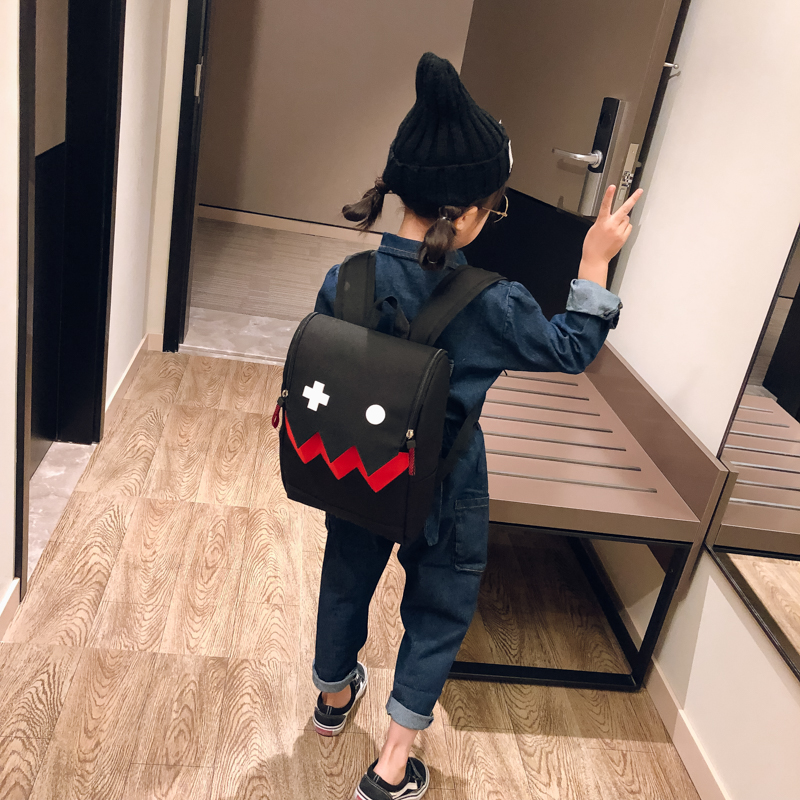 Kids Bags Boys Canvas Children's Cartoon Style School Tide New Small Backpack Male