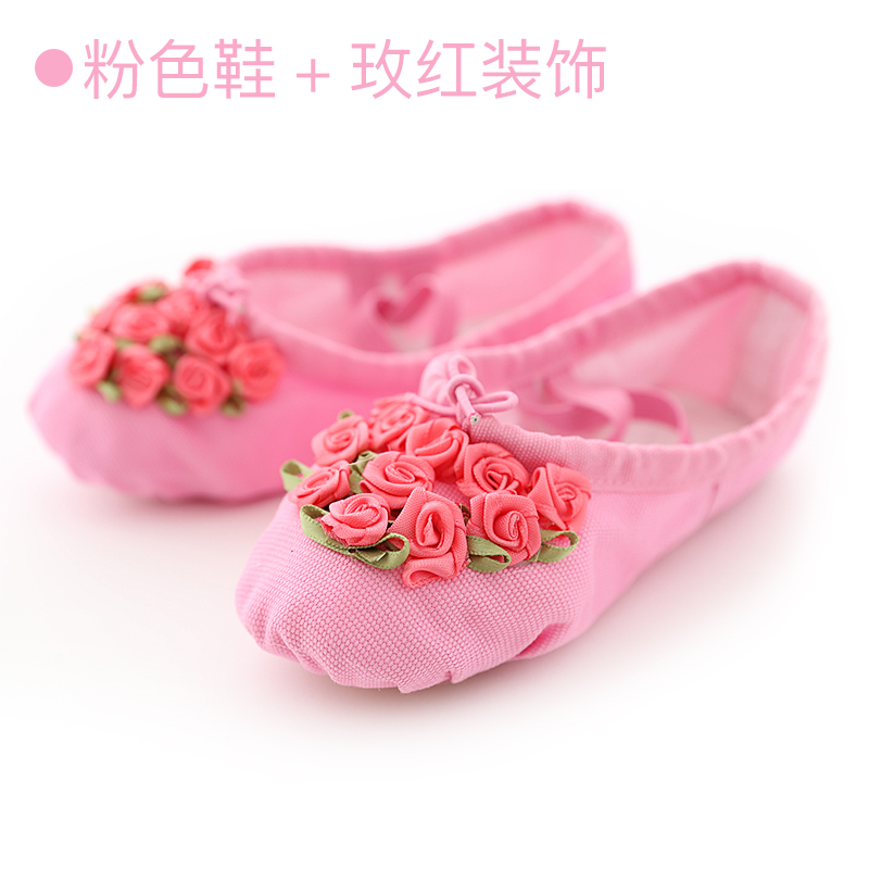 Kids Shoes Girls Cotton Female Children Doll Floral Style Soft Bottom Footwear