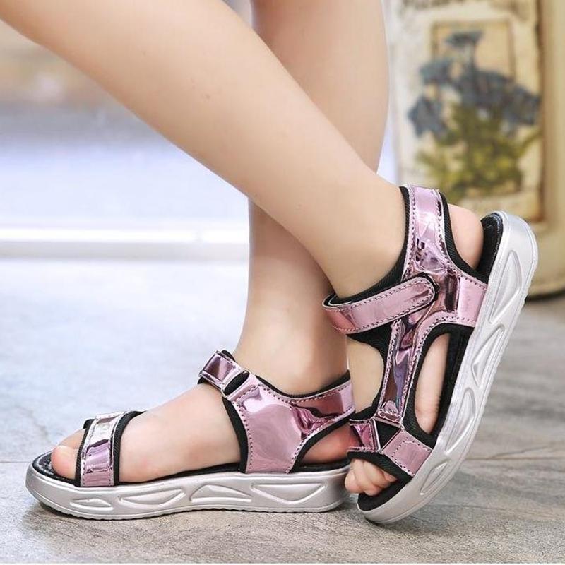 Kids Shoes Girls Flats Sandals Children's New Footwear Summer Beach Soft Bottom