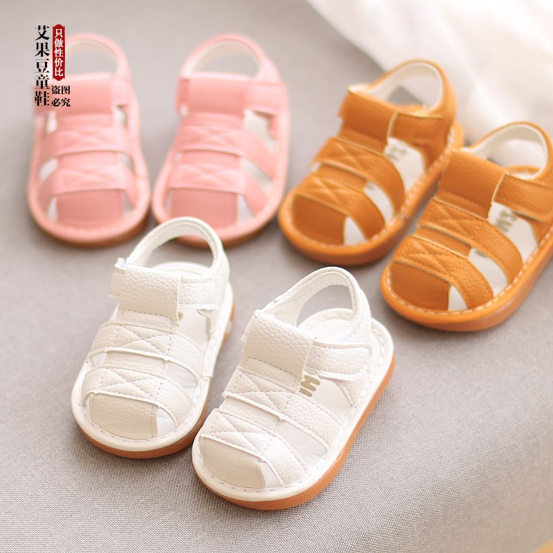 Kids Shoes Boys Casual Soft Bottom Male New Tide Rubber Sandals Beach Footwear