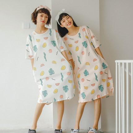 Maternity Clothing Sleepwear Soft Cotton Female Cute Night Wear Pregnant Women