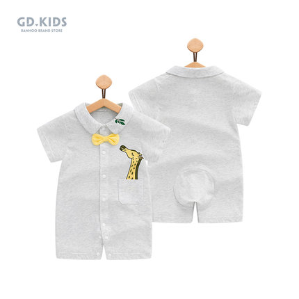 Baby Clothing Dress Summer Cotton Romper Cartoon Style Short Sleeved Outwear