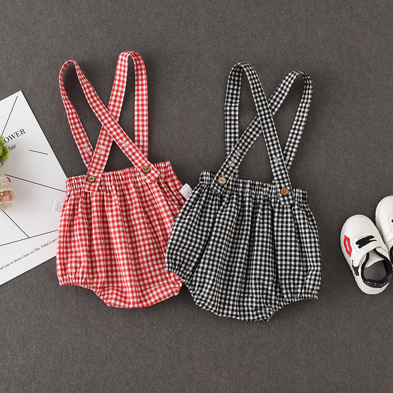 Baby Clothing Bottoms Summer Checkered Shorts Clothing Outfit Korean Style