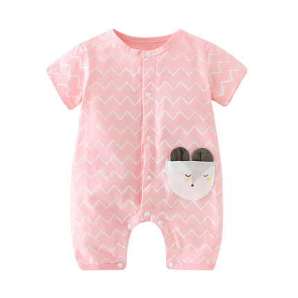 Baby Clothing Sleepwear Newborn Pajamas Cotton Thin Short Sleeved Cute Onesies