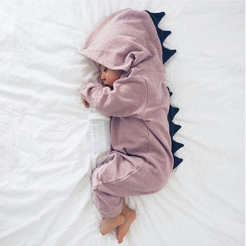 Baby Clothing Winter Wear Onesies Spring Autumn Long Sleeved Cute Dinosaur Wear