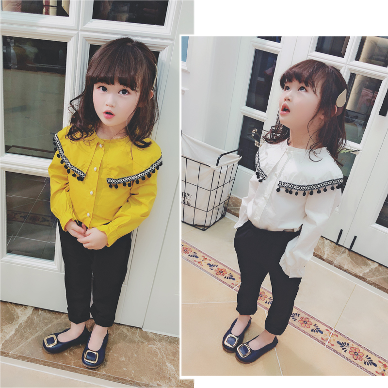 Kids Clothing Tops Girls Lace Cute Summer Spring Fashion Long Sleeved Blouse