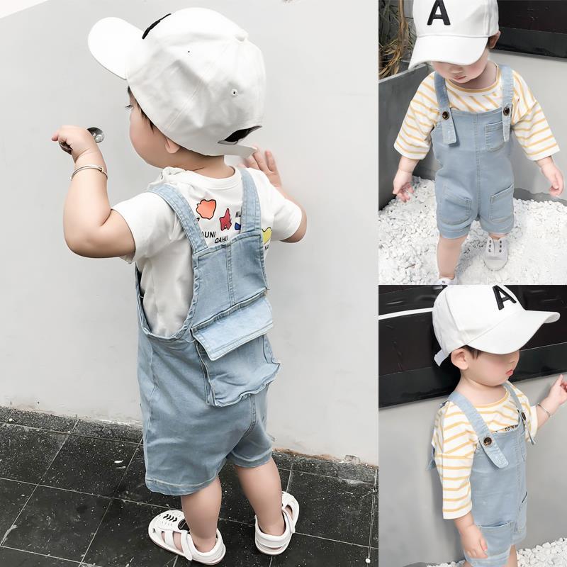 Kids Clothing Boys Denim Jumpsuit Romper Summer Clothes Children's Cute Outwear
