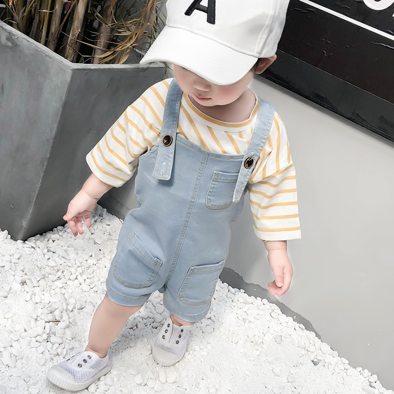 Kids Clothing Boys Denim Jumpsuit Romper Summer Clothes Children's Cute Outwear