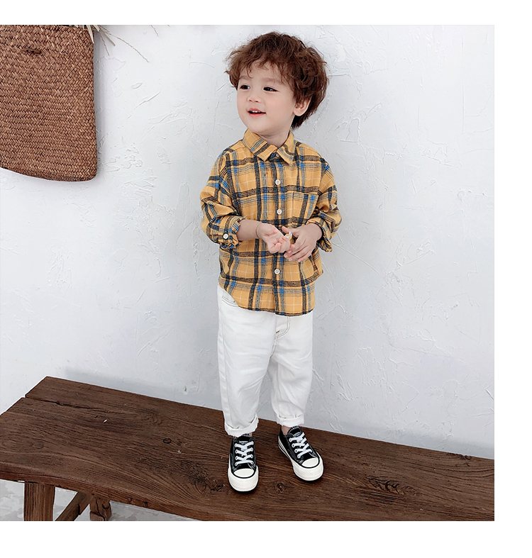 Kids Clothing Boys Summer Cotton Checkered Polo Children's Clothes