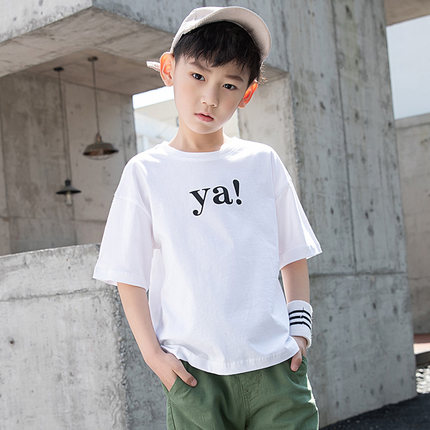 Kids Clothing Boys Tops Loose Children\'s Summer Spring Shirts Printed Cotton New