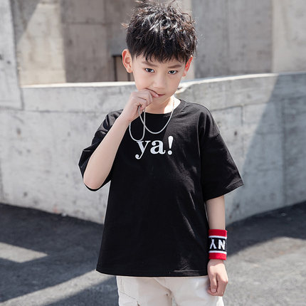 Kids Clothing Boys Tops Loose Children's Summer Spring Shirts Printed Cotton New