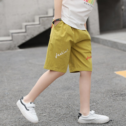 Kids Clothing Boys Bottoms Cotton Knee Length Children\'s Cotton Shorts Male Wear