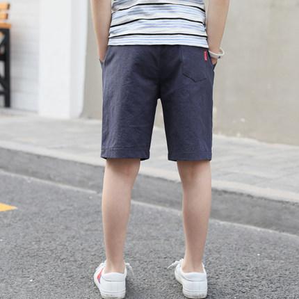 Kids Clothing Boys Bottoms Cotton Knee Length Children's Cotton Shorts Male Wear