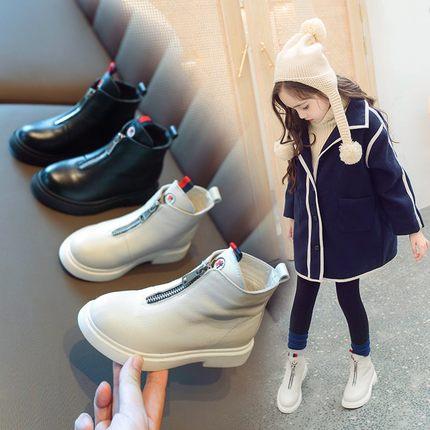 Kids Shoes Girls Leather Boots Autumn Summer Footwear Fashion British Trend