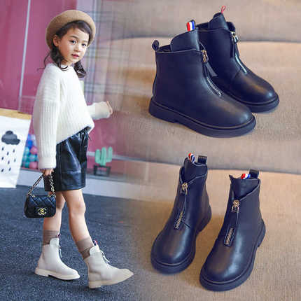 Kids Shoes Girls Leather Boots Autumn Summer Footwear Fashion British Trend