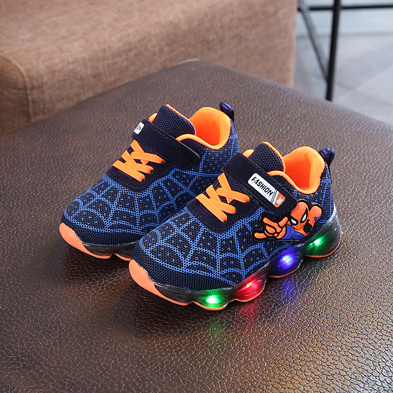 Kids Shoes Boys Sneakers Children's Toddlers Spiderman Style Running Shoes