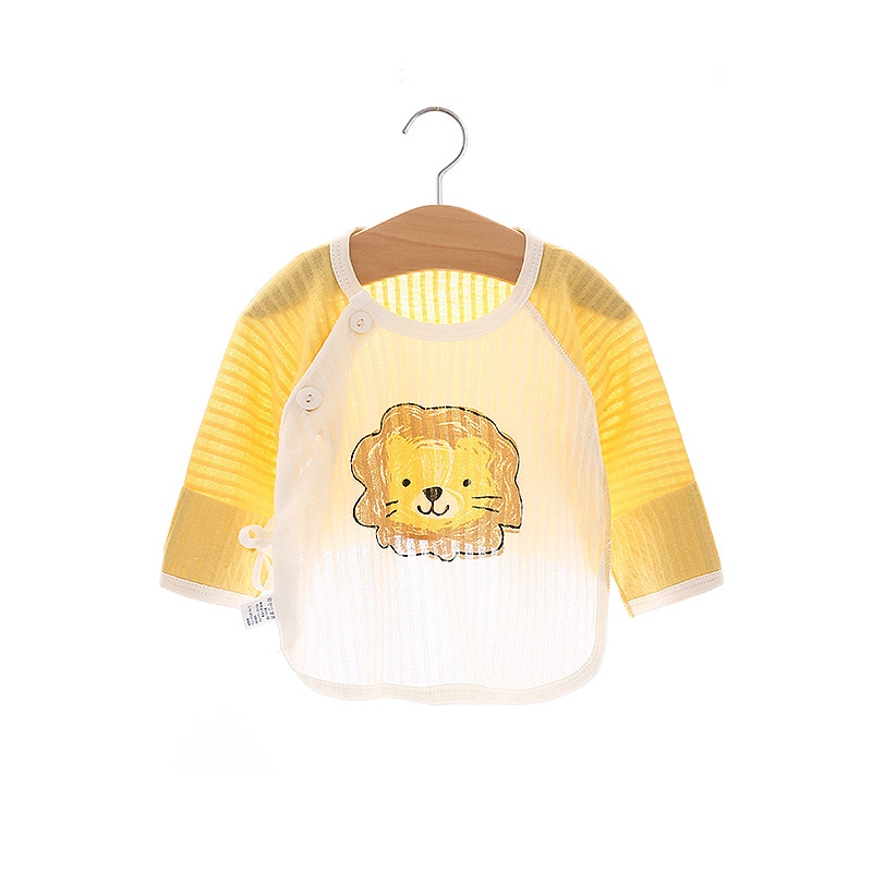 Baby Clothing Tops Newborn Soft Cotton Shirts Overlap Summer Wear Cartoon Style