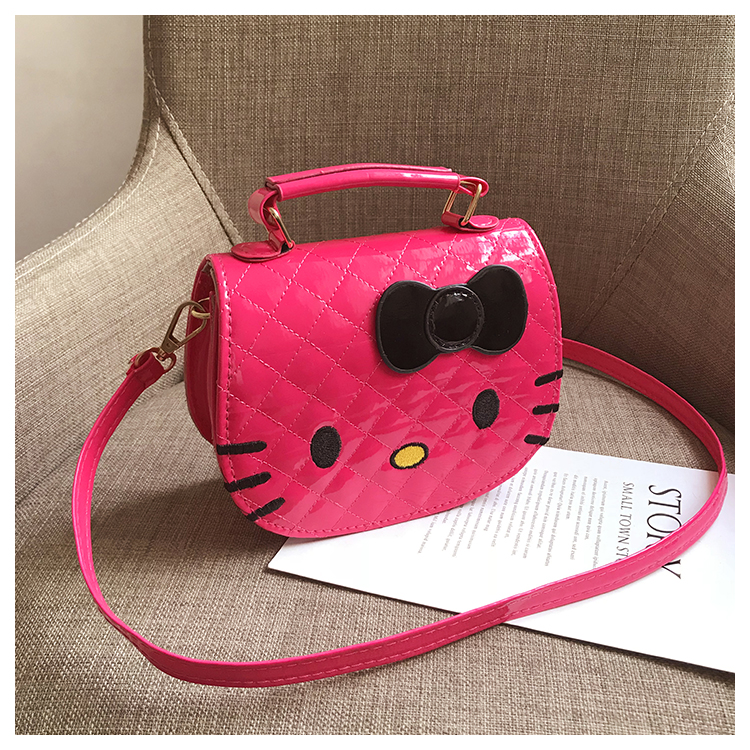 Kids Bags Girls Children Sling Hello Kitty Style Synthetic Cartoon Shoulder Bag